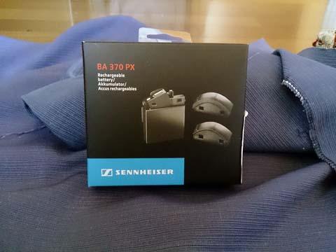 ゼンハイザー(SENNHEISER)のノイズキャンセリング・BluetoothヘッドセットMM-450用バッテリーBA370PXのパッケージ