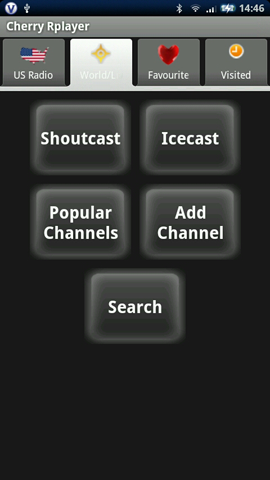 Xperia(エクスペリア)で画面キャプチャしたCherryr Player ver.1.04の画面