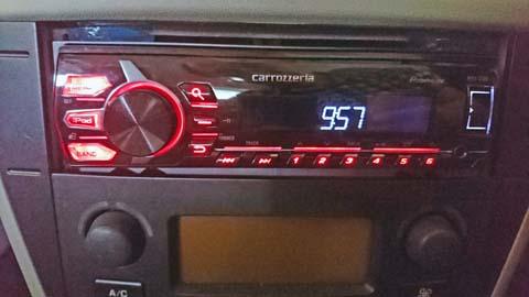 カロッツェリア(carrozzeria)MHV-3100を1DINのオーディオスペースに収納