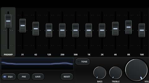 Xperia(エクスペリア)のオーディオプレーヤーPowerampのイコライザーの設定画像