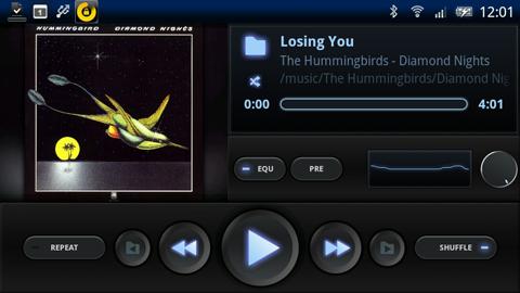 Xperia(エクスペリア)で画面キャプチャしたミュージックアプリPowerAMPの起動画面横